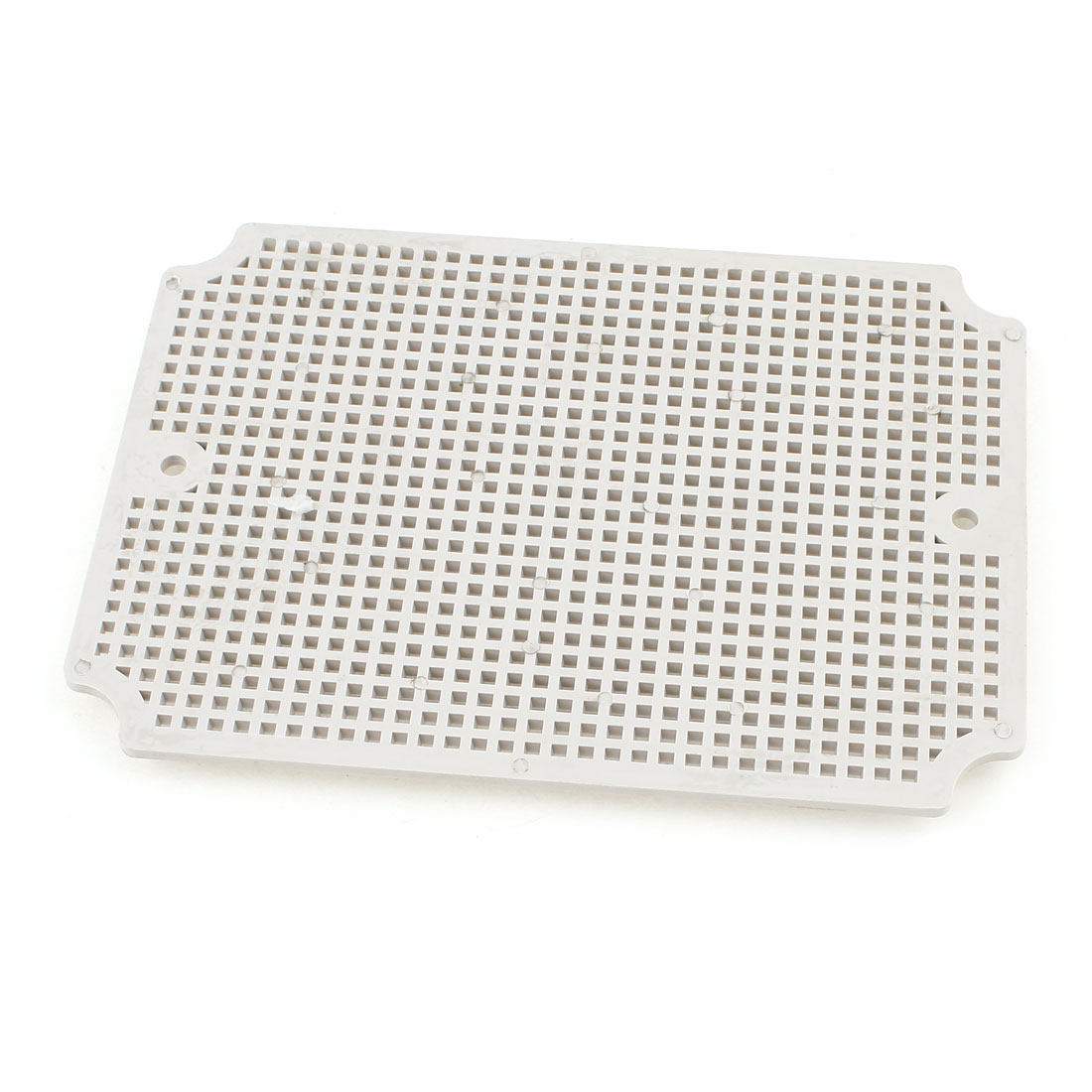 Gray Plastic Mesh Enclosure Mounting Plate for 200 x 150mm Junction Box