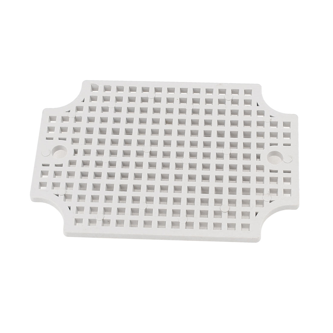 Gray Plastic Mesh Enclosure Mounting Plate for 110 x 80mm Junction Box
