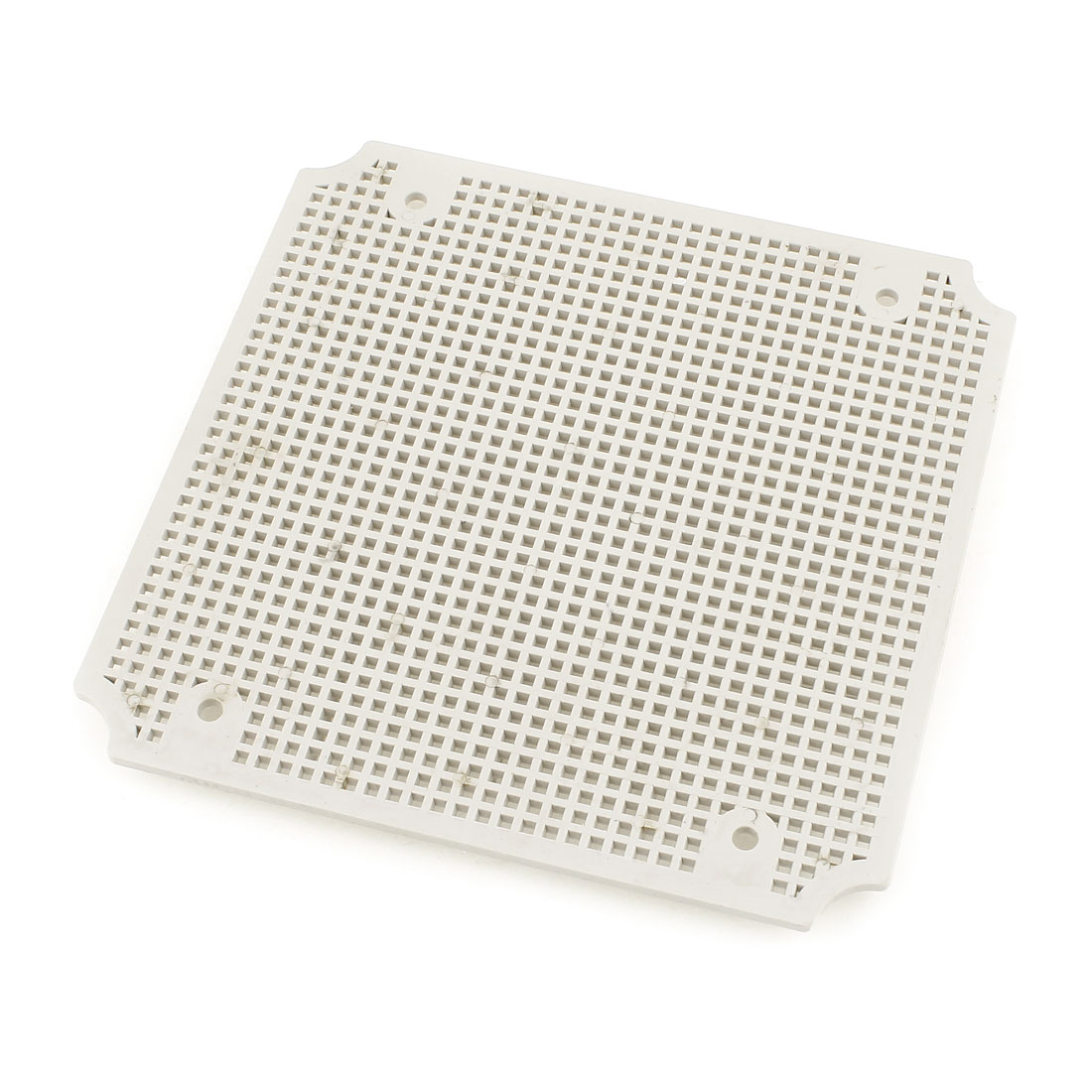 Gray Plastic Mesh Enclosure Mounting Plate for 200 x 200mm Junction Box