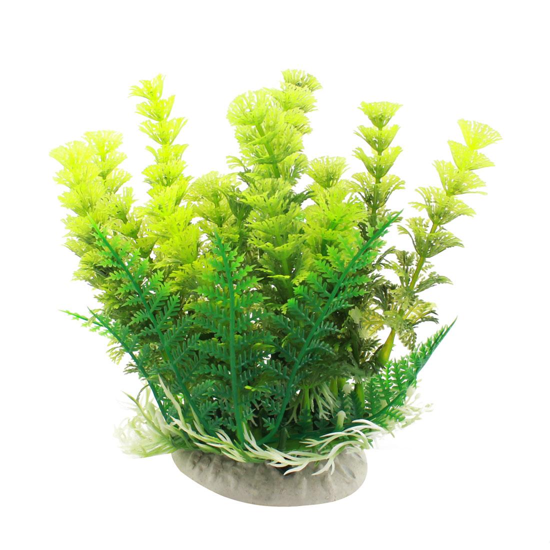 """Fish Tank Aquarium Landscaping Green Artificial Aquatic Grass Plant 6"""" High"""