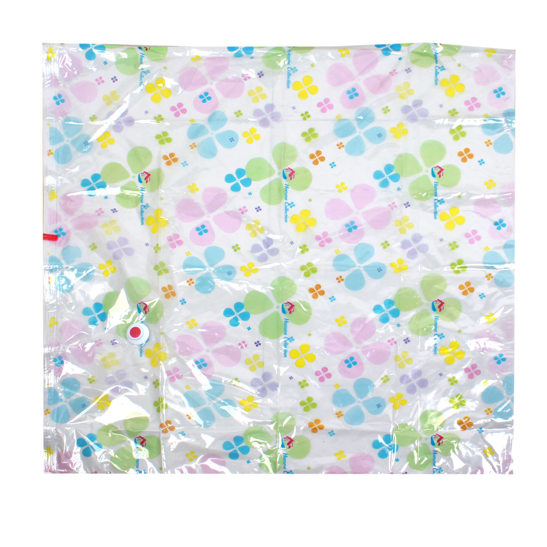 Multicolor Clover Prints PVC Waterproof Quilt Clothes Compress Vacuum Sealed Storage Bag 100x100cm