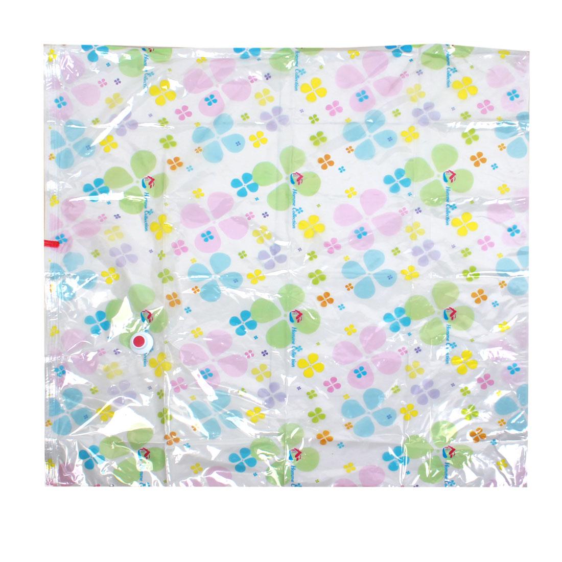 Multicolor Clover Prints PVC Waterproof Quilt Clothes Compress Vacuum Sealed Storage Bag 100x100cm