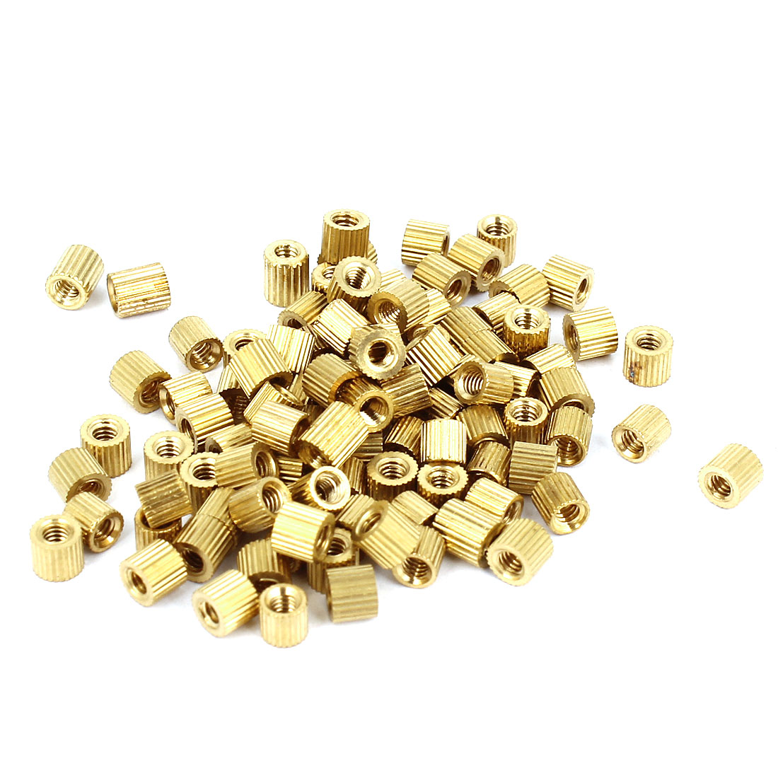 100pcs M2x3mm Hollow Pillar Column Ferrule Cylinder Brass Standoff Spacer