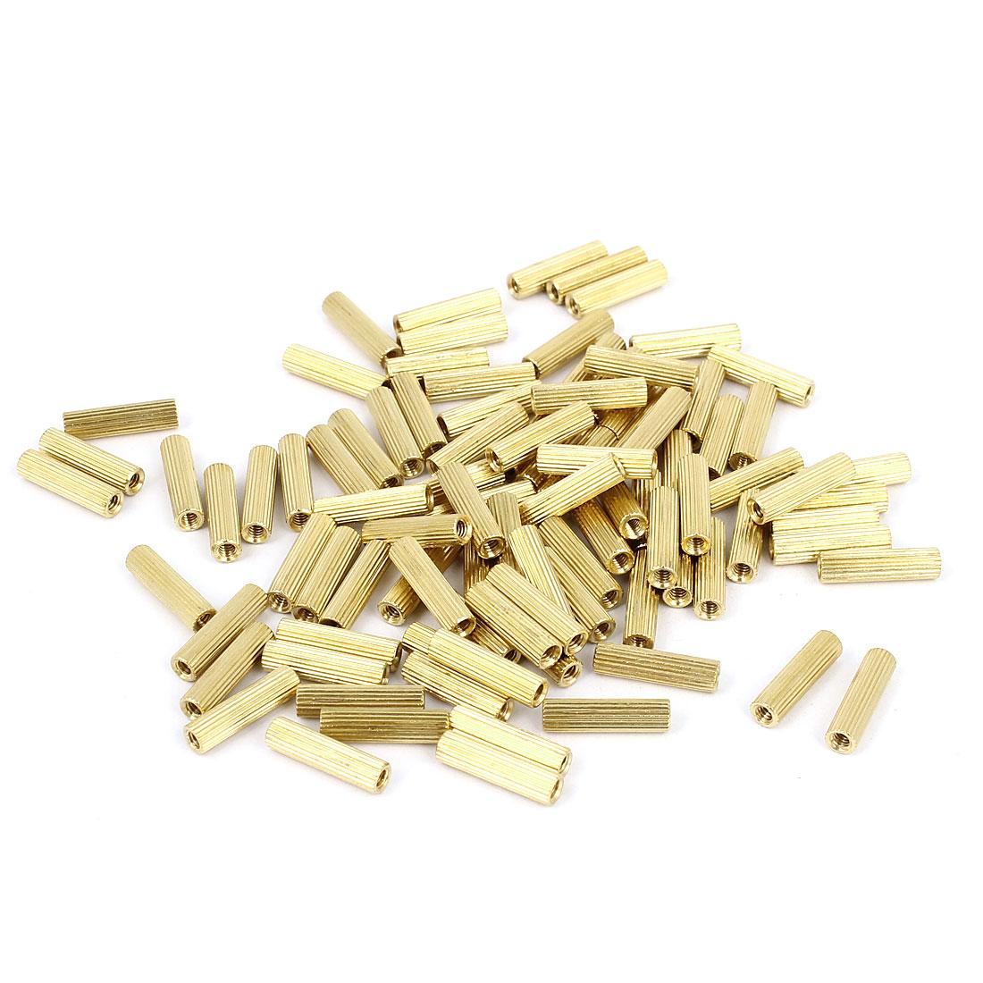 100pcs M2x11mm Hollow Pillar Column Ferrule Cylinder Brass Standoff Spacer