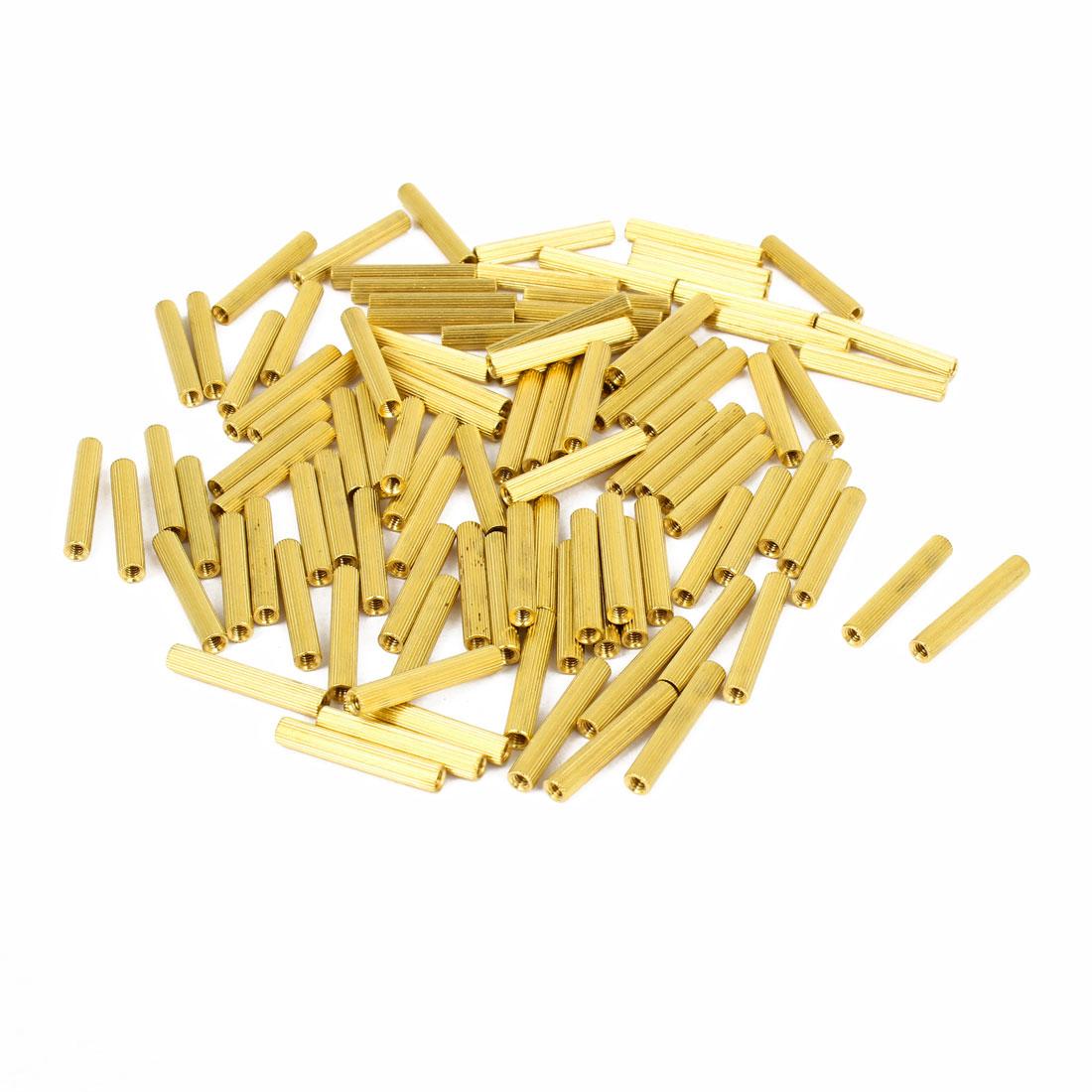100pcs M2x19mm Hollow Pillar Column Ferrule Cylinder Brass Standoff Spacer