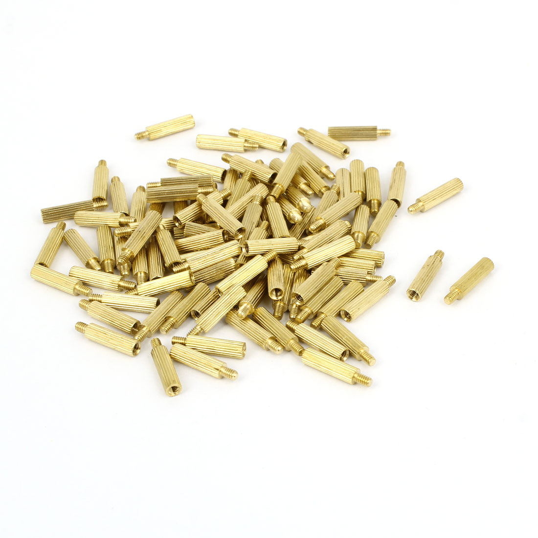 100 Pcs M2 Female Thread Cylindrical Brass Stand-off Support M2x11mm