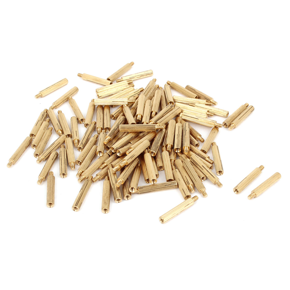 100 Pcs M2 Female Thread Cylindrical Brass Stand-off Support M2x16mm