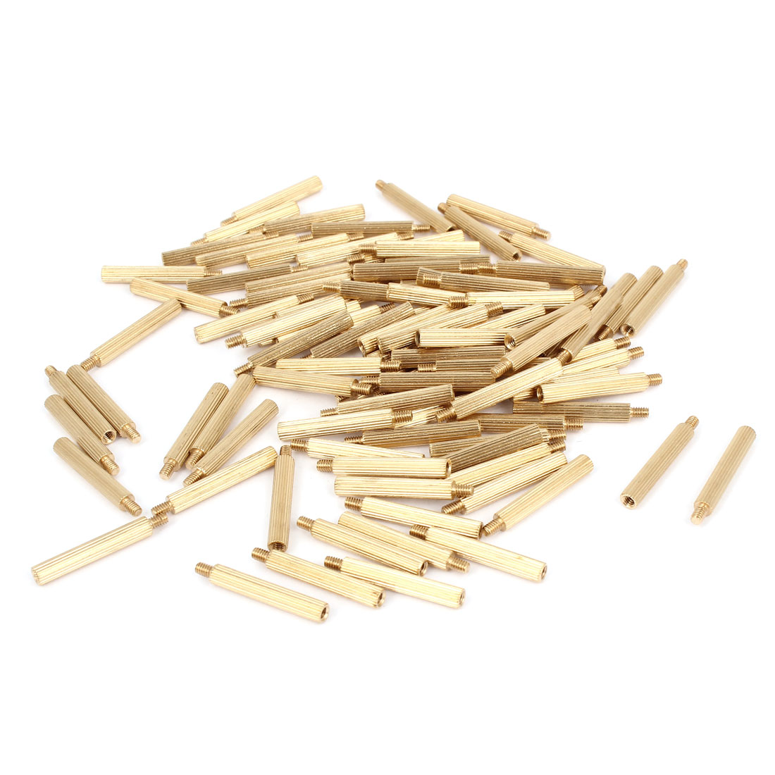 100 Pcs M2 Female Thread Cylindrical Brass Stand-off Support M2x19mm