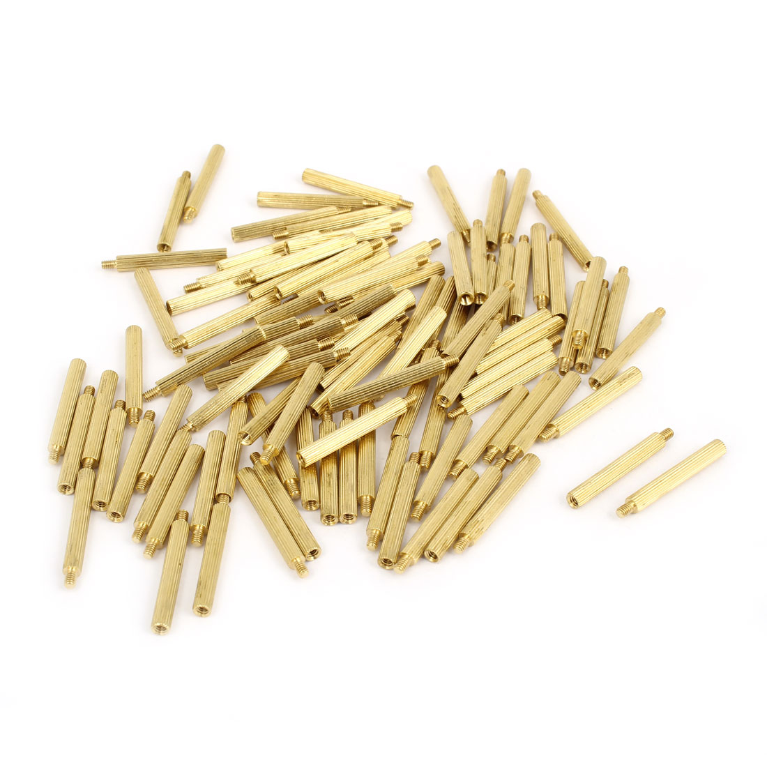100 Pcs M2 Female Thread Cylindrical Brass Stand-off Support M2x22mm