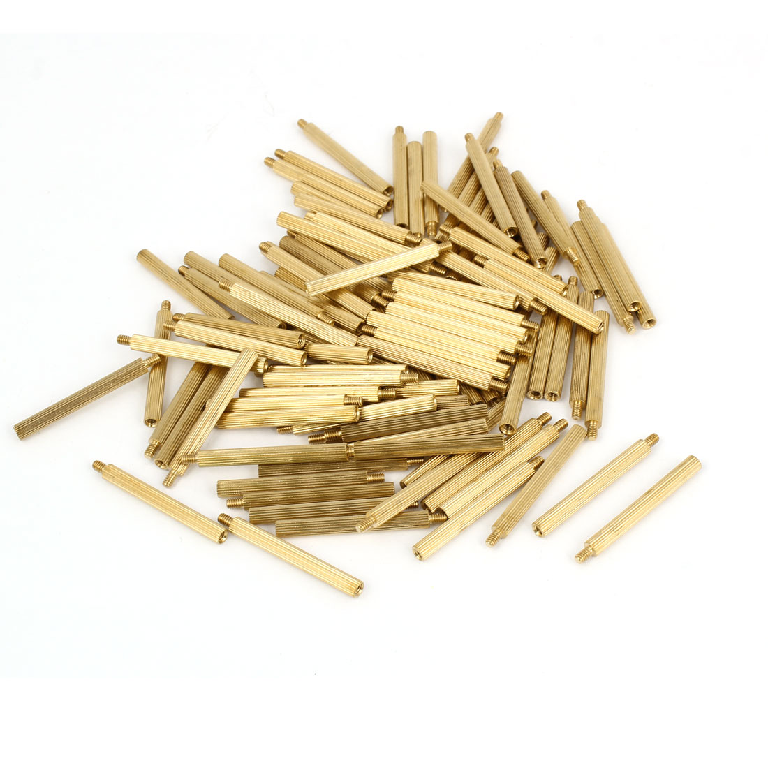 100 Pcs M2 Female Thread Cylindrical Brass Stand-off Support M2x27mm