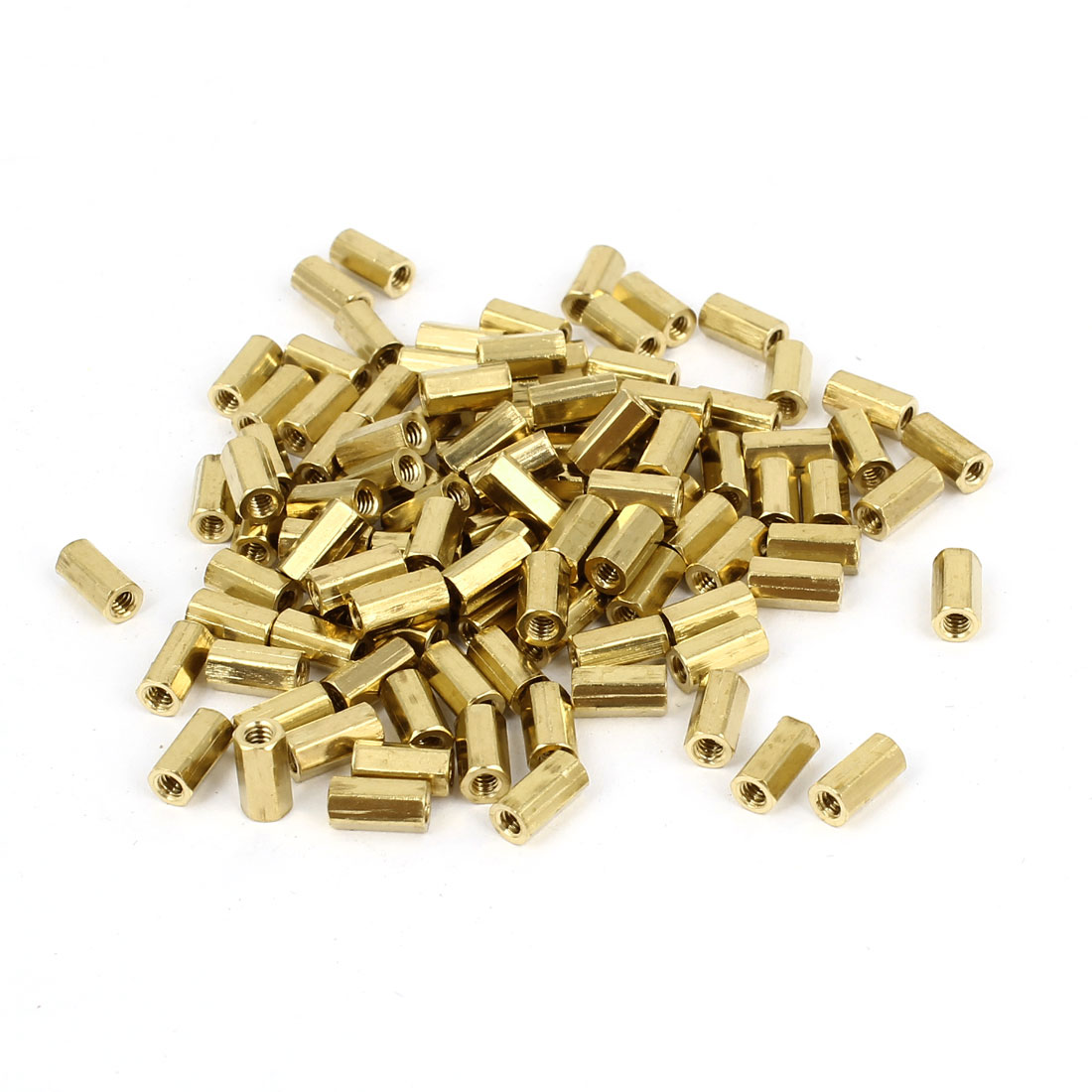 100 Pcs M2 6mm Hexagonal Net Nut Female Brass Standoff Spacer for CCTV Camera