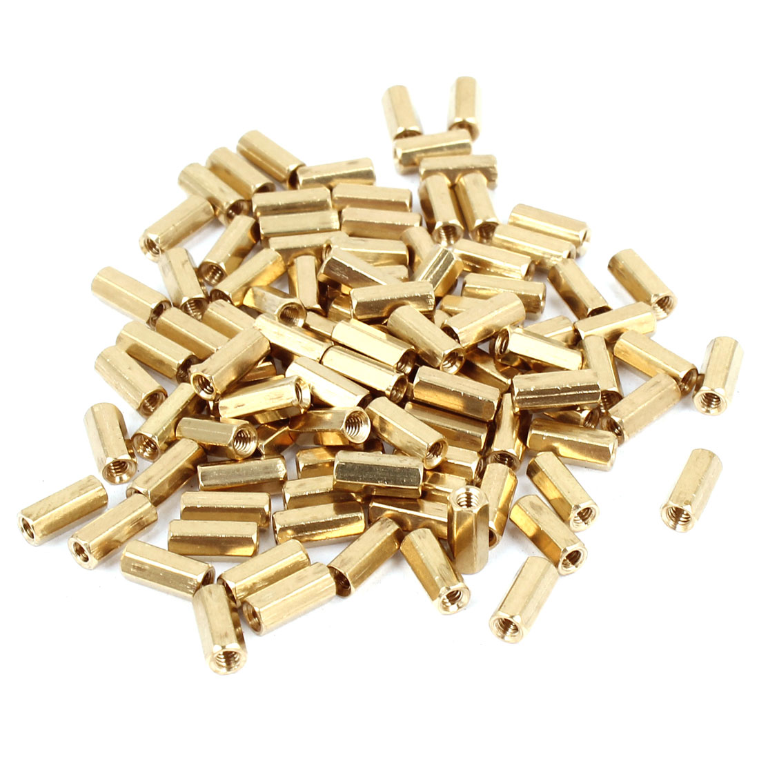 100 Pcs M2 7mm Hexagonal Net Nut Female Brass Standoff Spacer for CCTV Camera