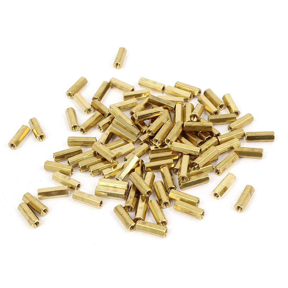 100 Pcs M2 Female Thread Brass Pillar Standoff Hexagonal Spacer 9mm Length