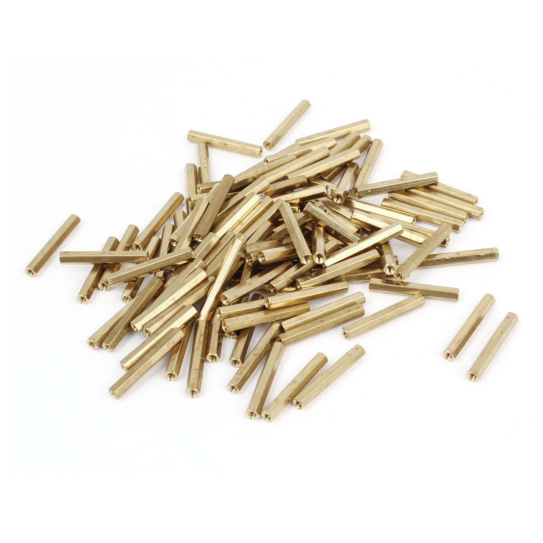 100Pcs M2x21mm Brass Column Female Stand-off Hexagonal Spacer M2 Thread Dia