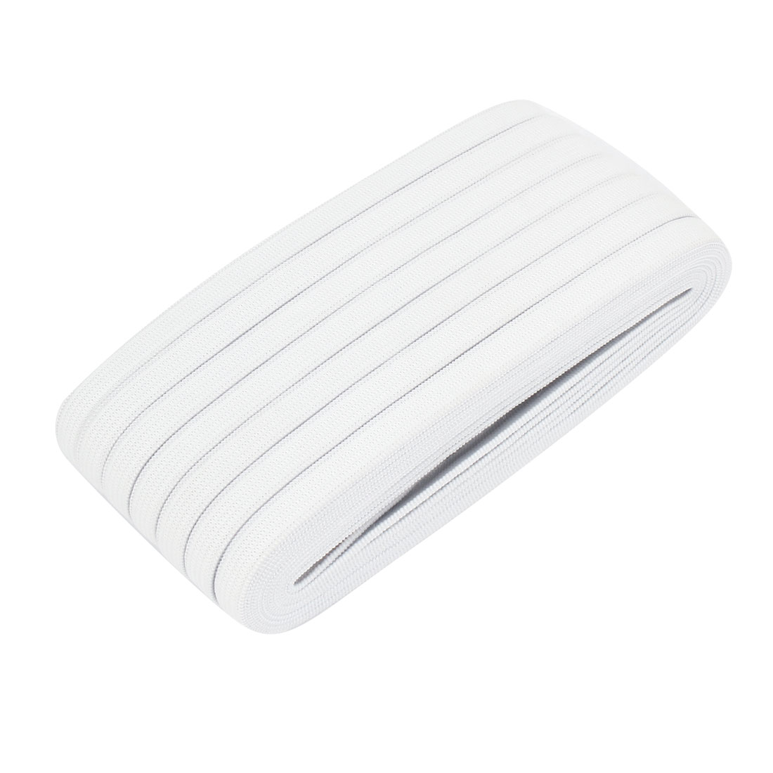 Household 20M Long 8mm Wide White Braided Shrink Stretchy Band for Trousers