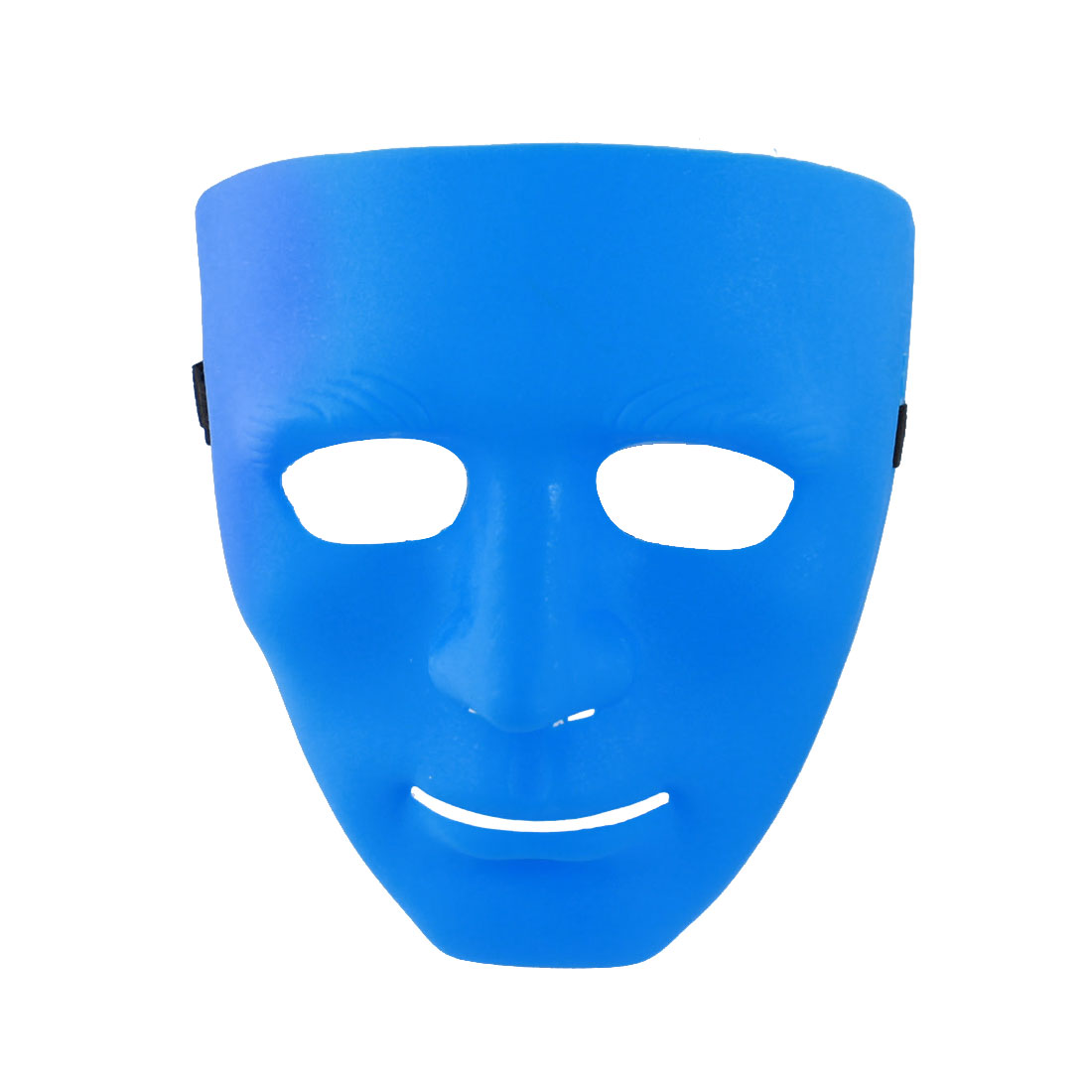 Blue Adjustable Airsoft War Game Full Face Plastic Plain Mask for Men