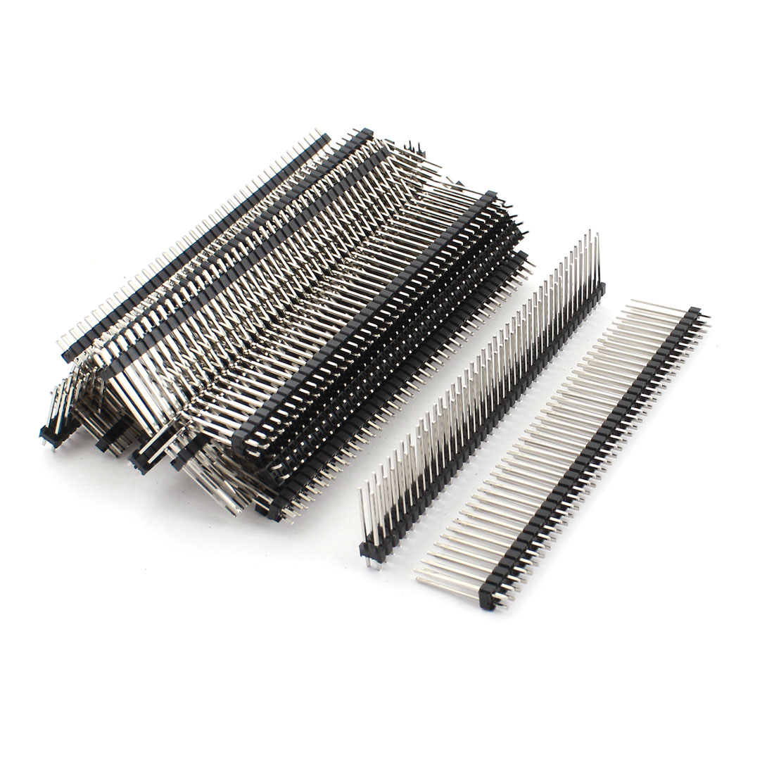 25 Pcs 2.54mm Pitch Double Row 80Pin Male Through Hole Mount Straight Pin Header Strip Connector 20mm
