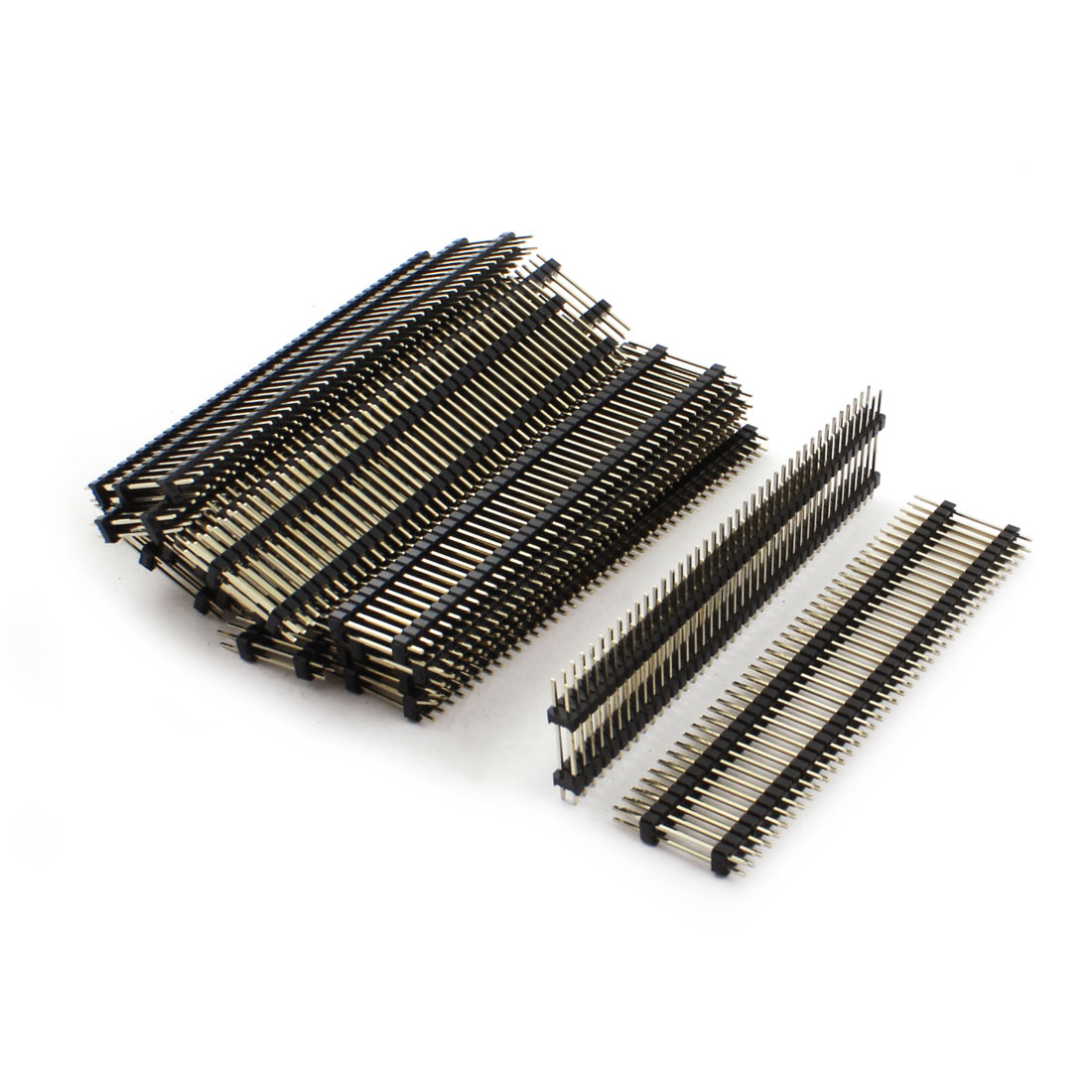 20Pcs 2.54mm Pitch Double Row 2x40 80Pin Male Straight Pin Header Connector Strip 25mm Length