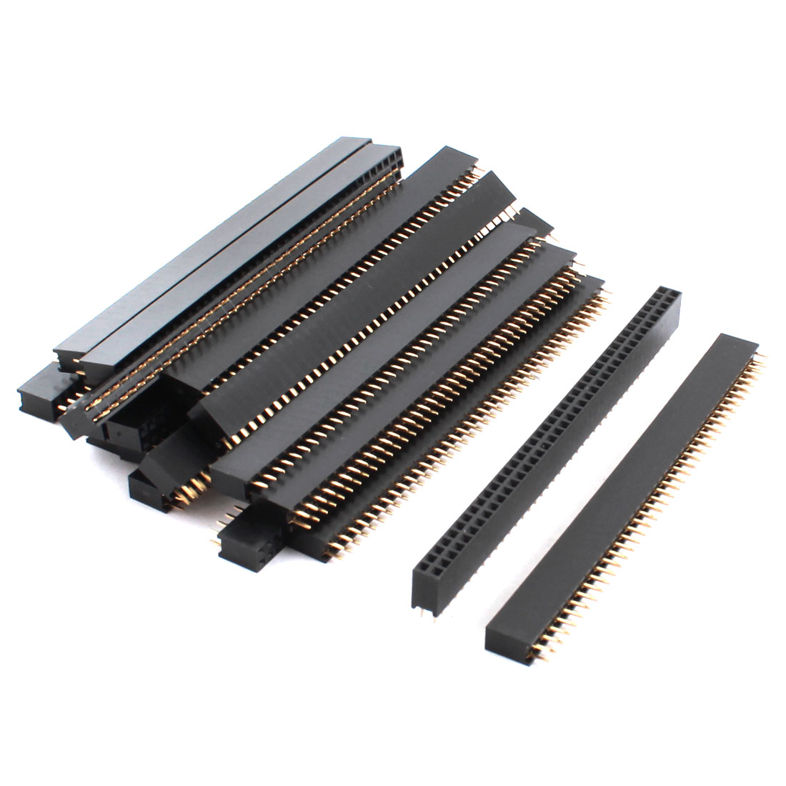 2.54mm Pitch 2 Row 80-Pin Female Through Hole Straight Pin Header Connector Strip 20 Pcs