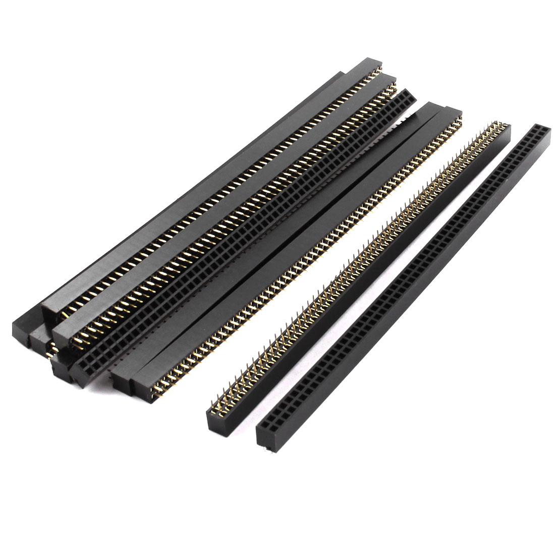 2.54mm Pitch 120-Pin Female Double Row Through Hole Mount Straight Pin Header Connector Strip 10 Pcs