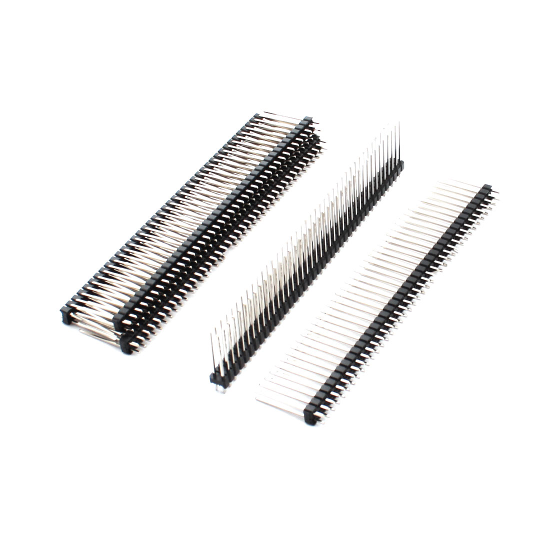 5 Pcs 2.54mm Pitch 2 Row 2x40 80Pin Male Straight Pin Header Connector Strip 21mm Length