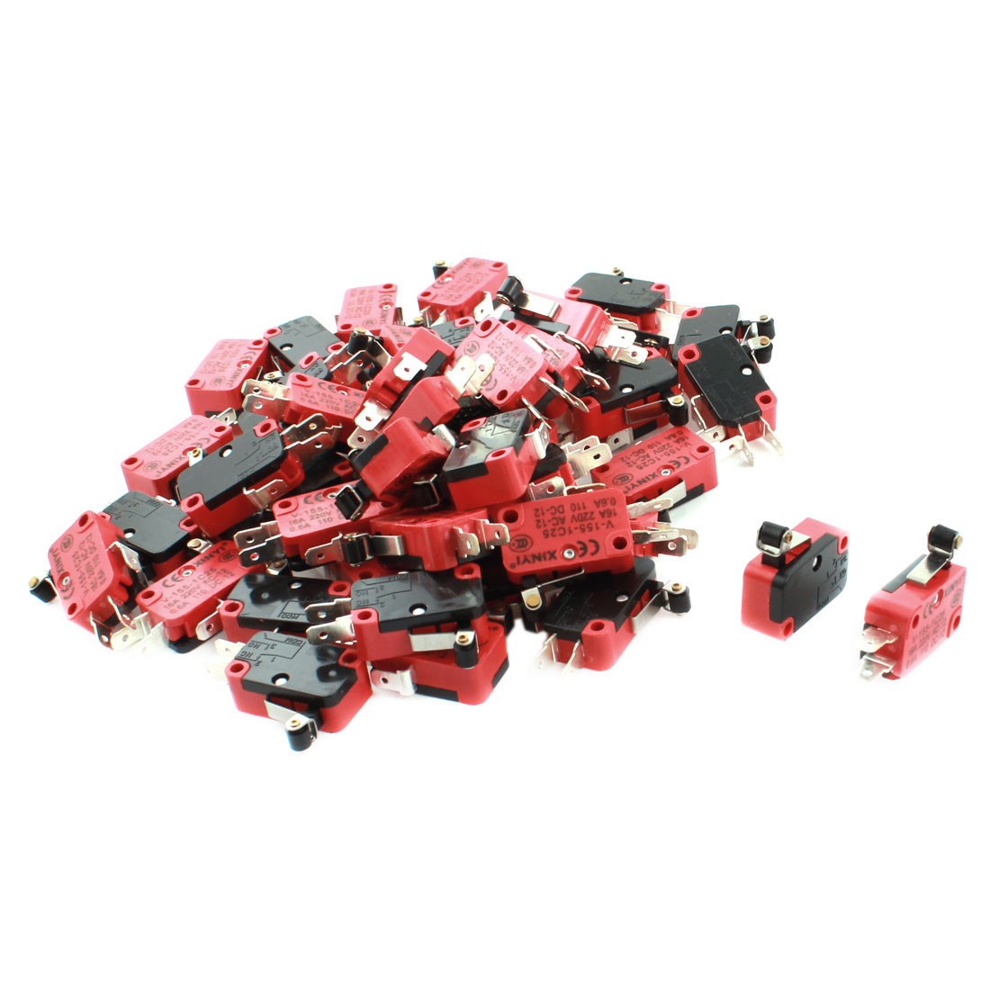 50 Pcs V-155-1C25 Micro Limit Switch Short Roller Lever Arm SPDT Snap Action LOT