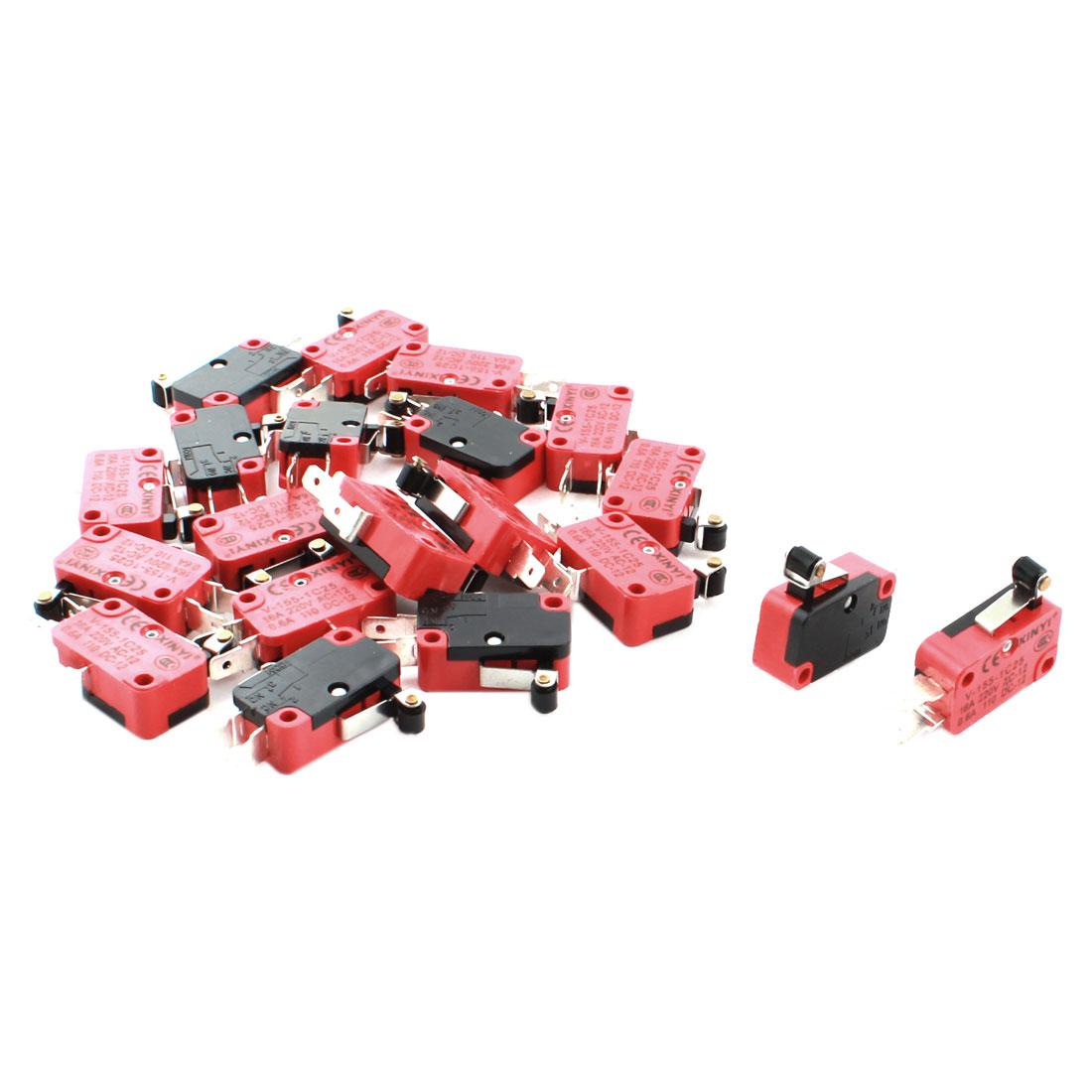 20 Pcs V-155-1C25 Micro Limit Switch Short Roller Lever Arm SPDT Snap Action New