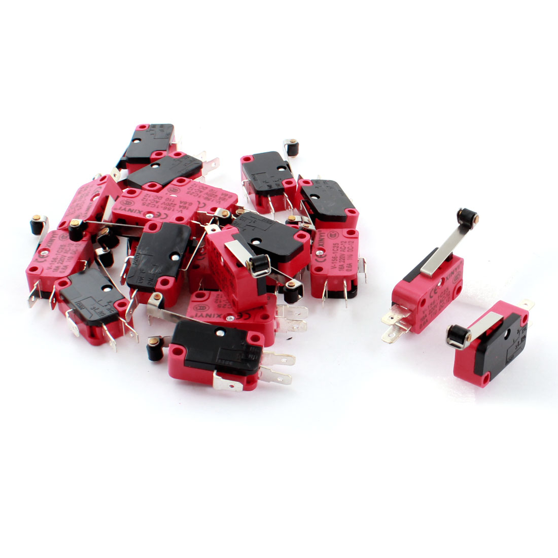 20 Pcs V-156-1C25 Micro Limit Switch Long Hinge Roller Lever Arm SPDT Snap Action LOT
