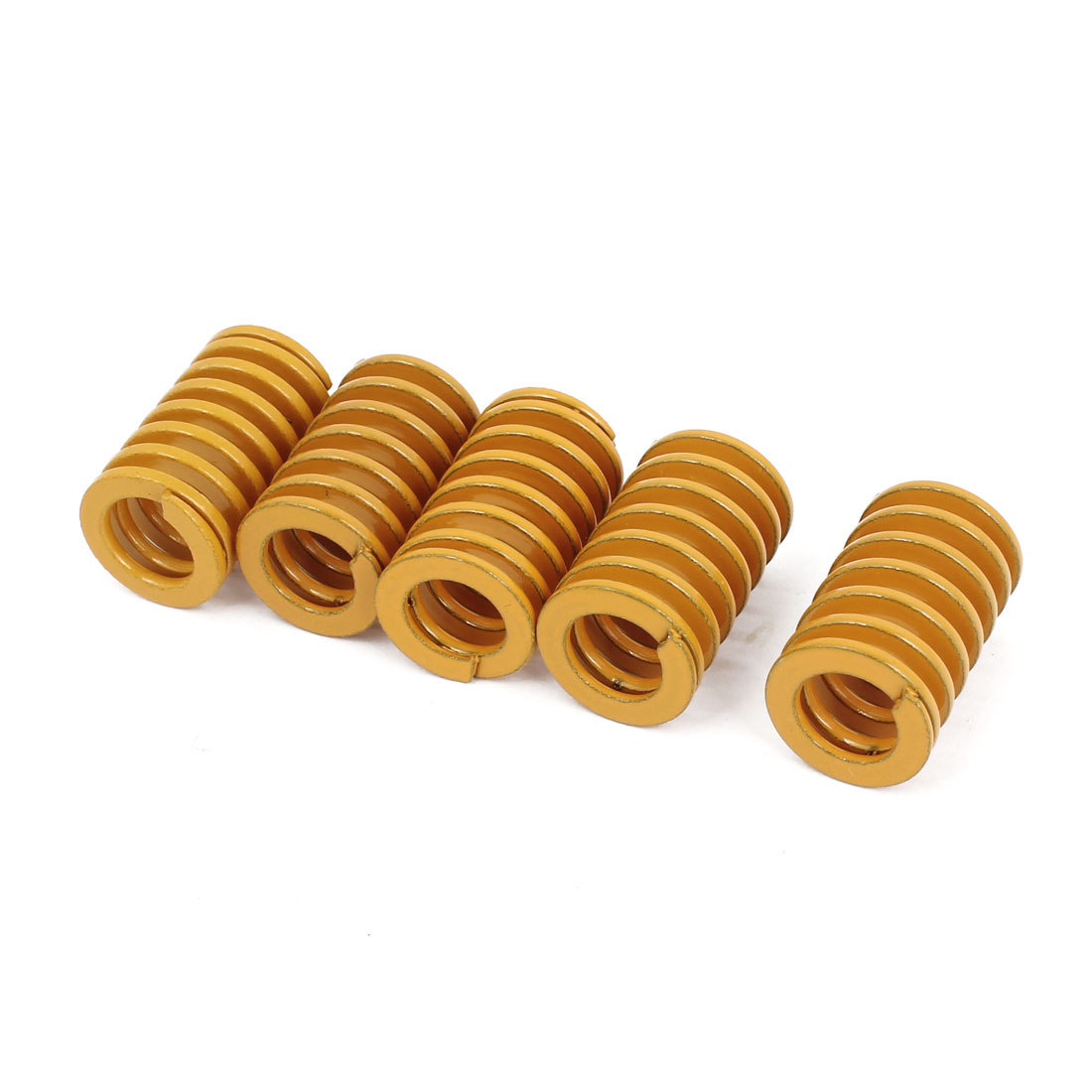 9mm x 16mm x 25mm Rectangular Section Mold Mould Die Spring Yellow 5 pcs