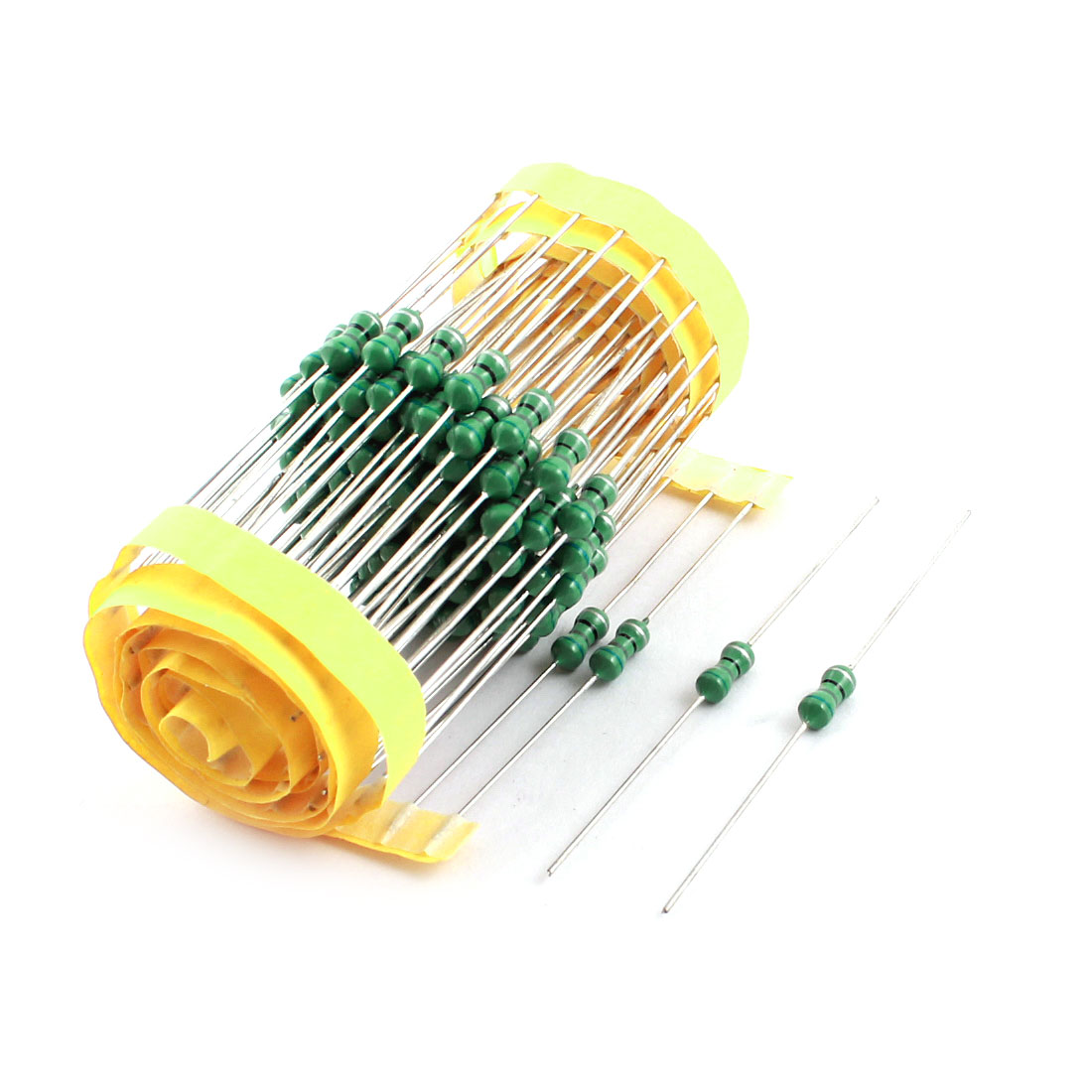 PCB Board Through Hole 680uH 4x10mm 0410 10% 1/2W Power Axial Leaded Color Ring Inductors 100 Pcs