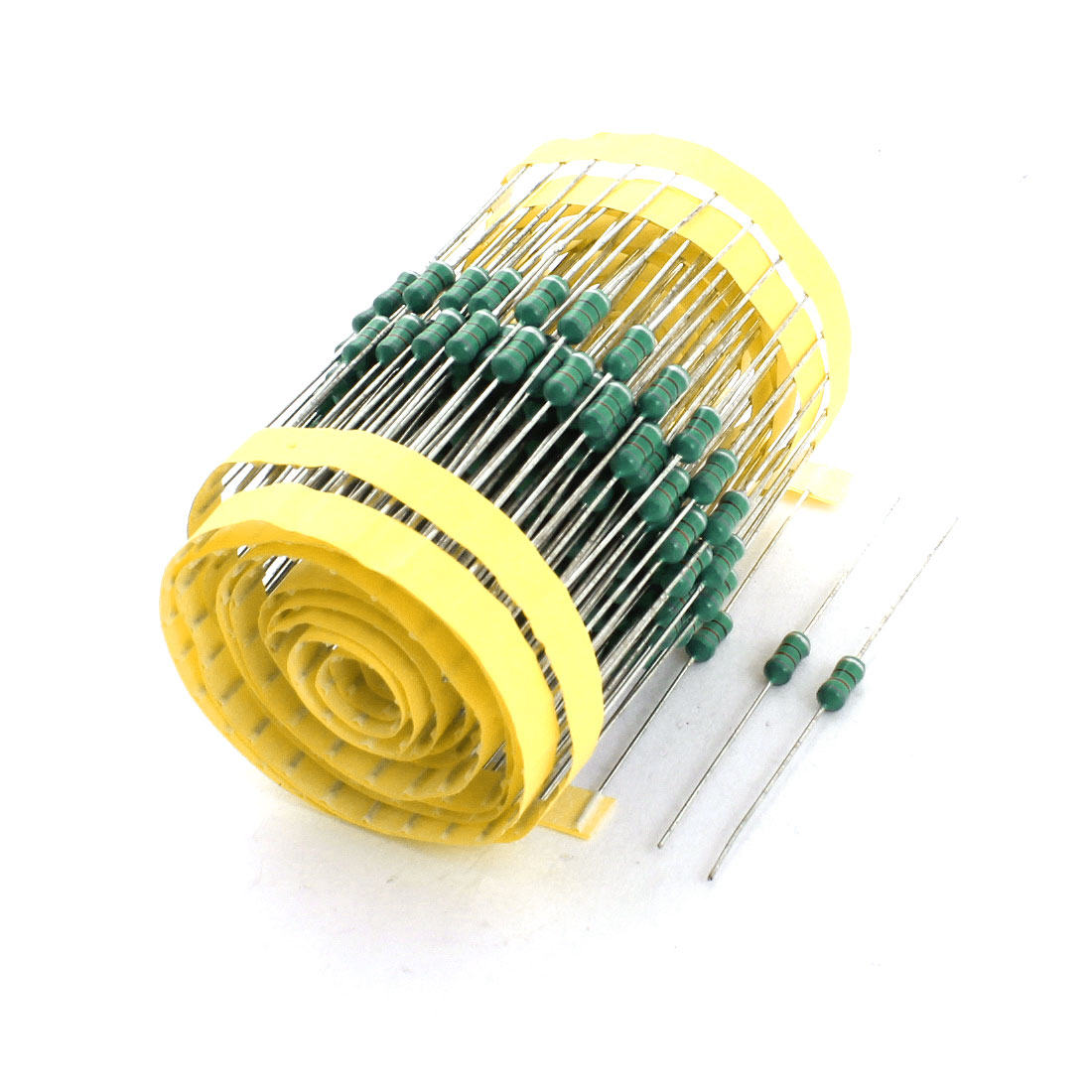 200Pcs PCB Welding 1/2W 820uH 10% Axial Color Ring Inductors 0410 4x10mm