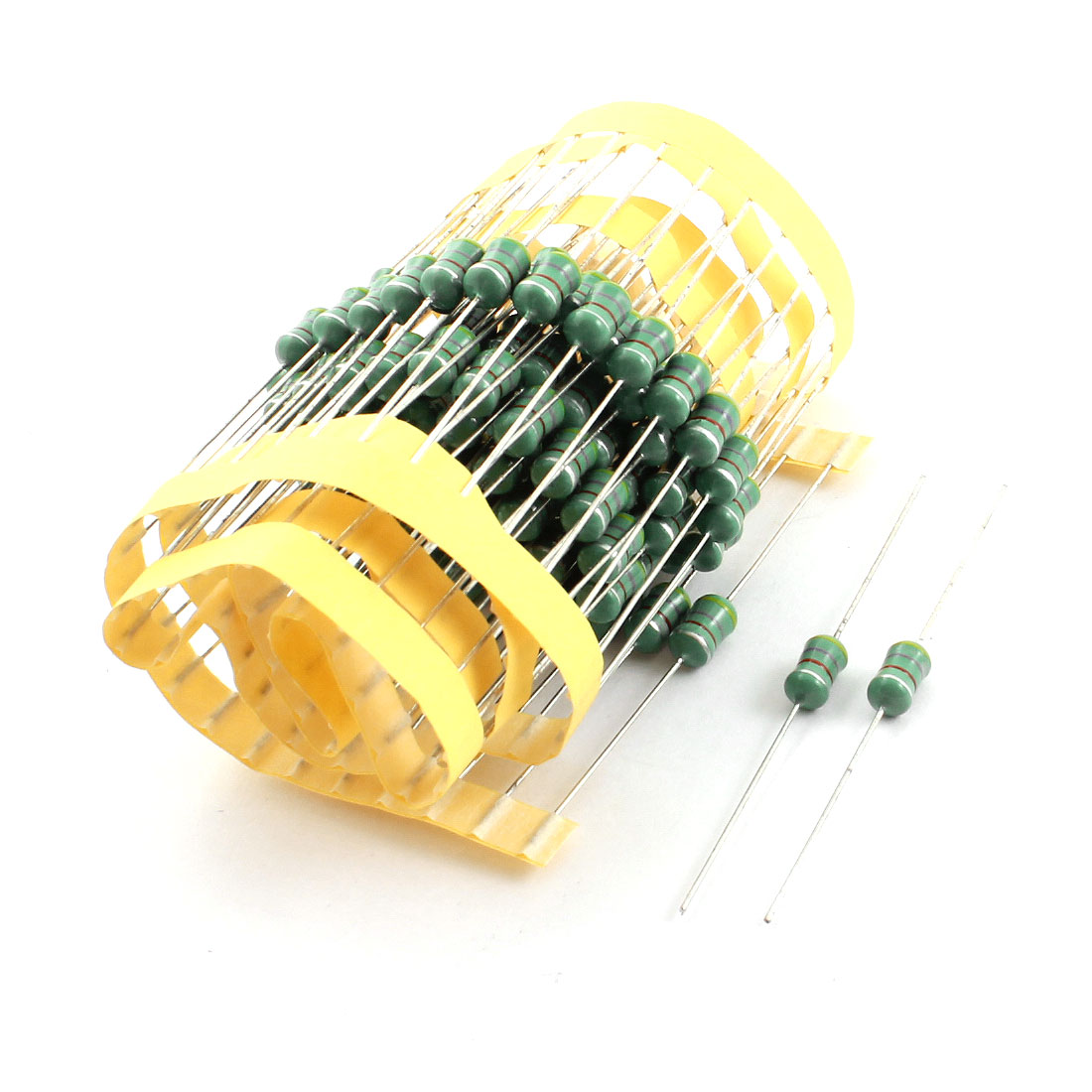 100 Pcs 4.7uH 5x10mm 0510 1W Power 10% Tolerance Axial Leaded Through Hole Mount Color Ring Inductors for PCB Board