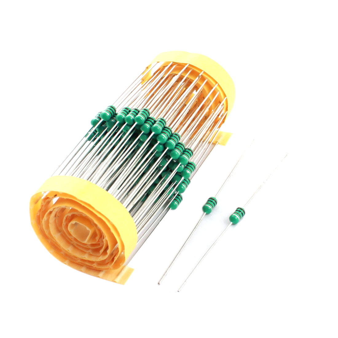 100Pcs Through Hole 1mH 3x7mm 10% 1/4W Power Axial Leaded Color Ring Inductors for PCB Board