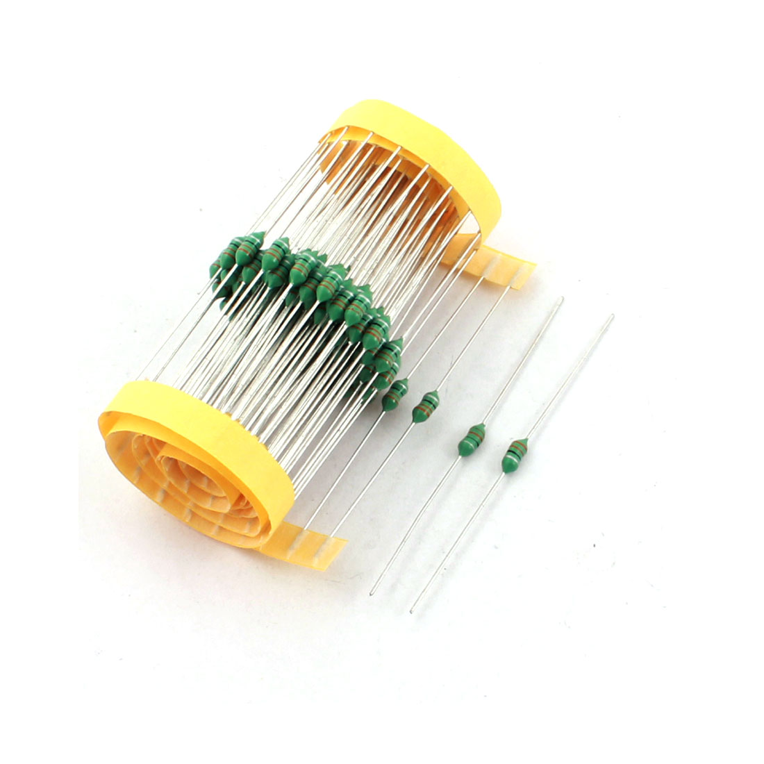 100Pcs Electronic Component 1/2W 33uH 10% Color Ring Inductors 3x7mm