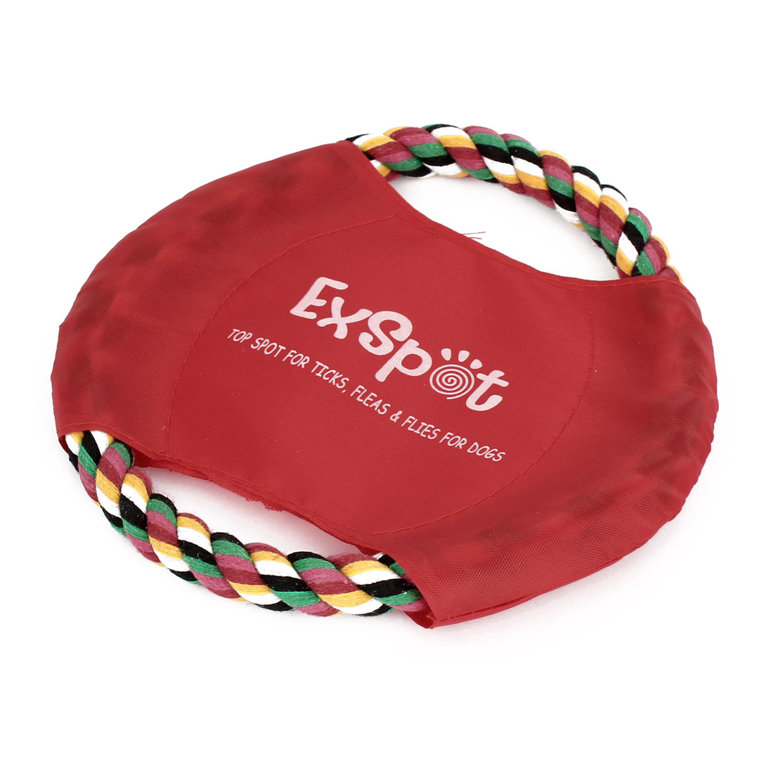 18cm Diameter Braided Cotton Rope Pet Doggie Training Frisbee Colorful