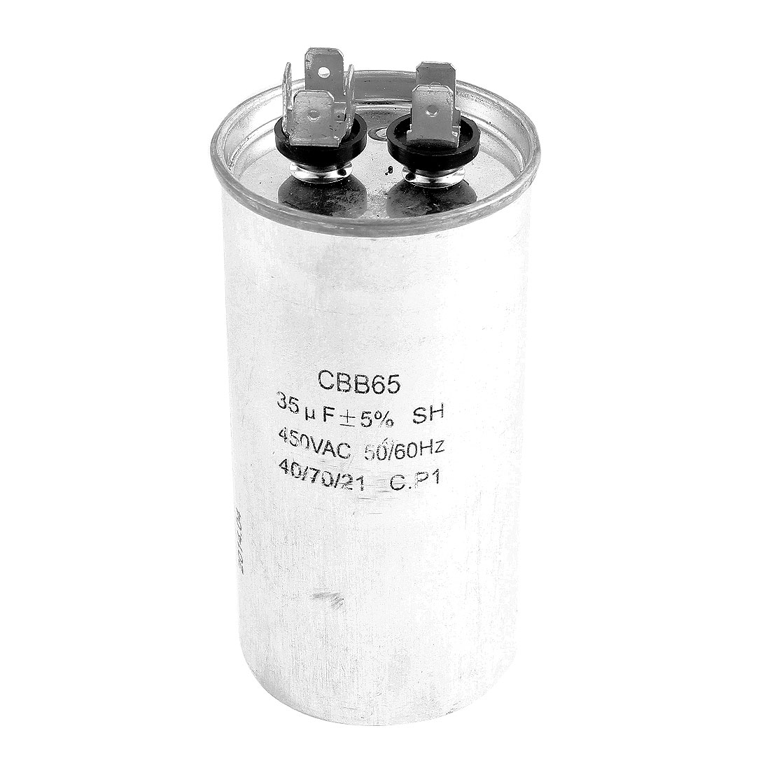 AC 450V 35uF Air Conditioner Cylinder Shape 6 Pin Terminal Polypropylene Film Motor Run Capacitor CBB65