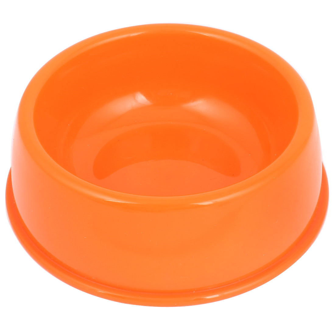"6"" Diameter 2"" Height Plastic Feeder Dog Pet Eat Food Water Bowl Dish Orange"