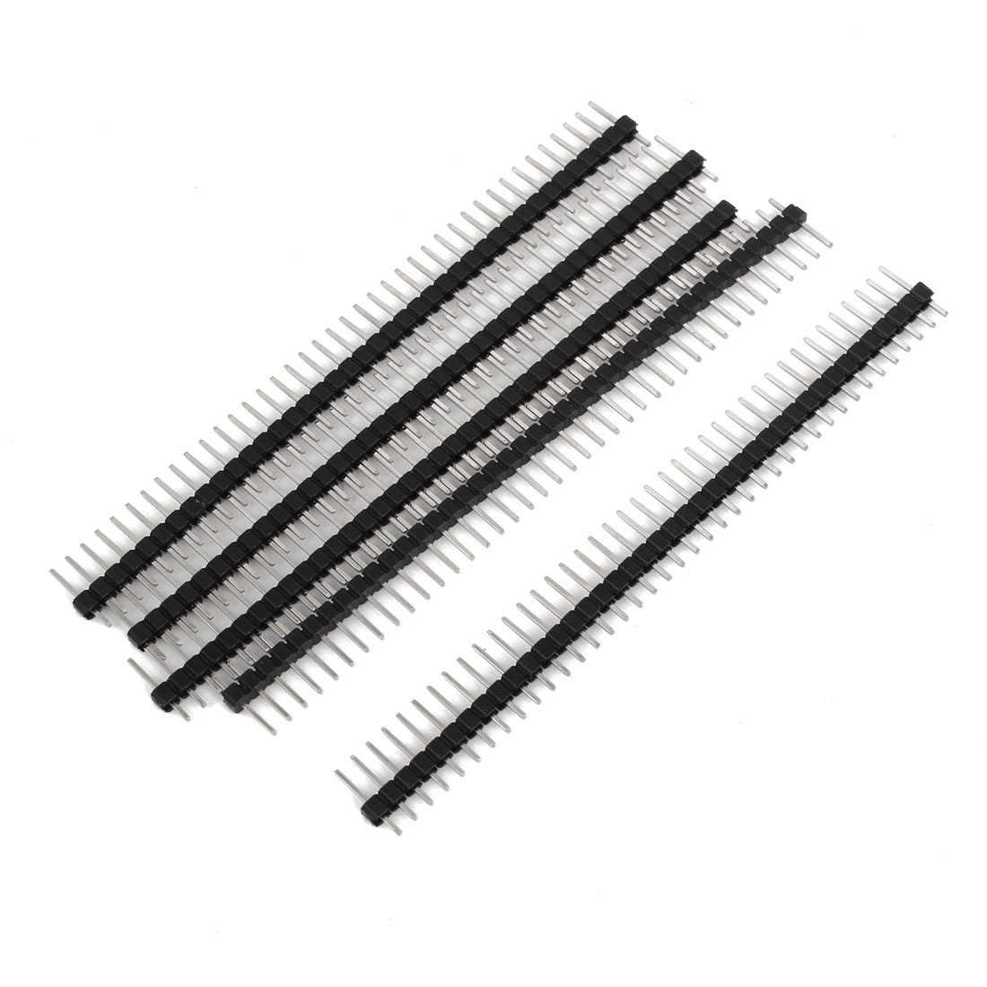 5 Pcs 1x40 Pin 2.54mm Pitch Straight Single Row PCB Pin Headers