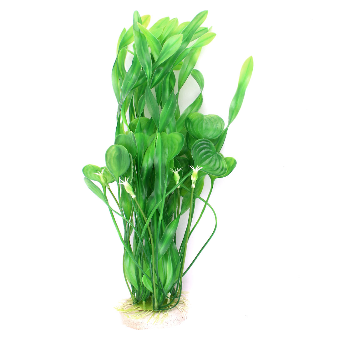 Fish Tank Decoration Simulational Plastic Underwater Water Plant Green 13.8-inch Height