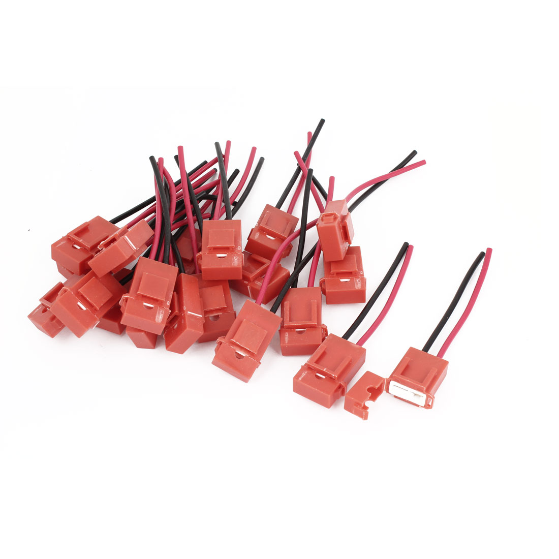 20 Pcs Red Plastic Coated Auto Car ATC Blade Inline Fuse Holder