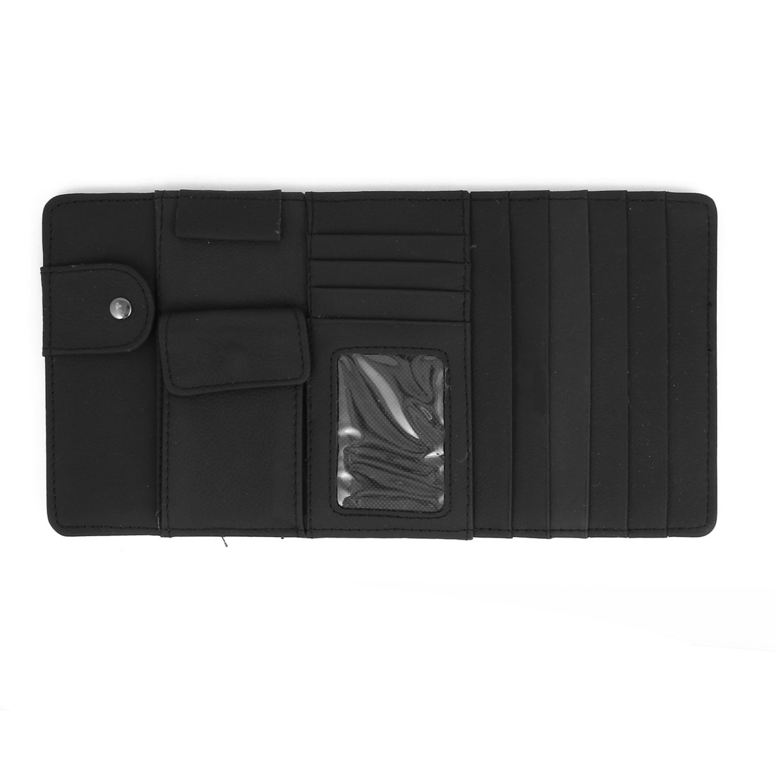 Black 4 Compartments Car Multi-Function CD Visor Protector Pocket Holder