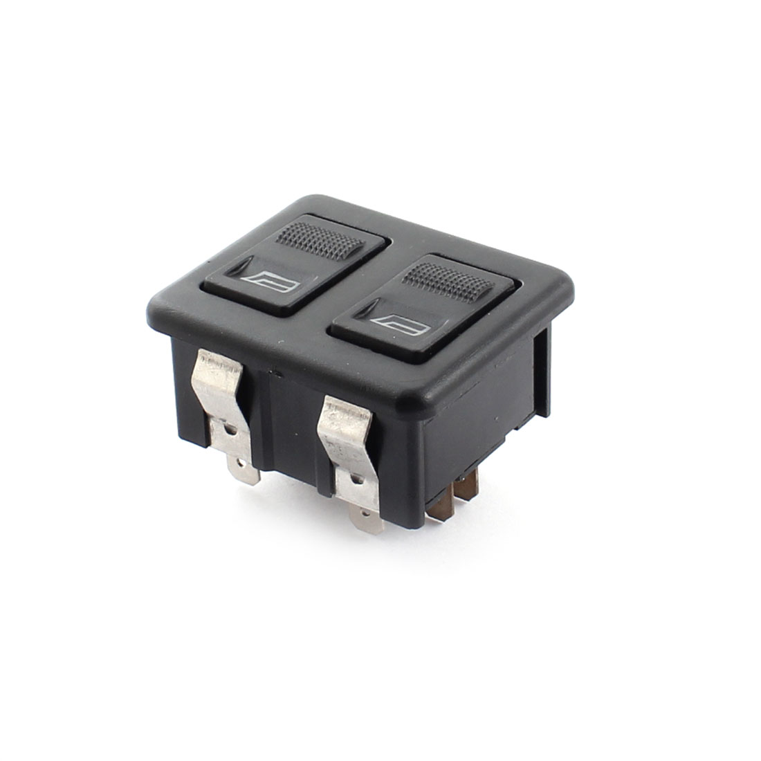 Car Auto Electric Window Aerial Up Down Rectangle Rocker Switch DC 12V Black