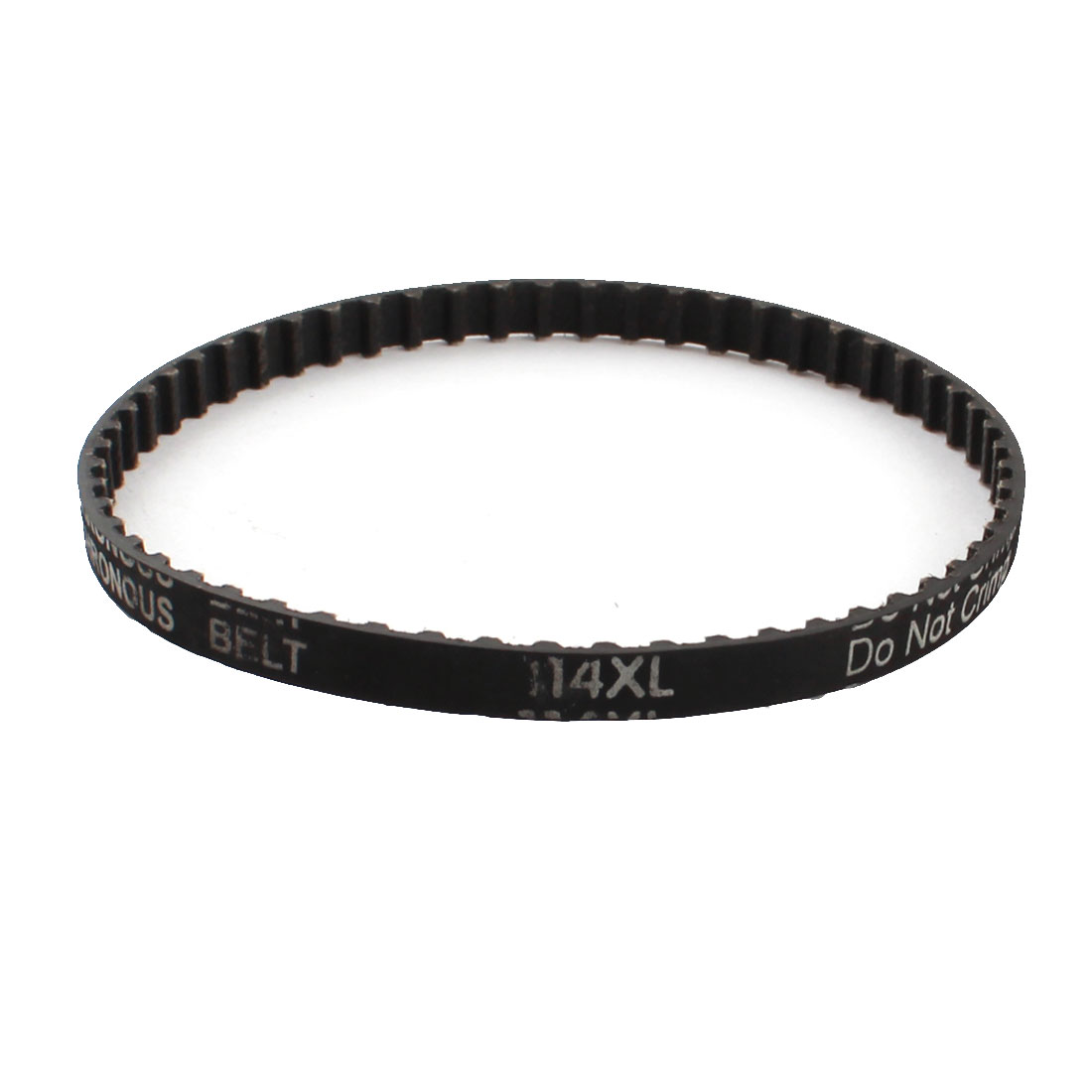 "XL-114 11.4"" Girth 5.08mm Pitch 57-Teeth 025 6.4mm Width Black Rubber Single Side Synchronous Timing Belt"