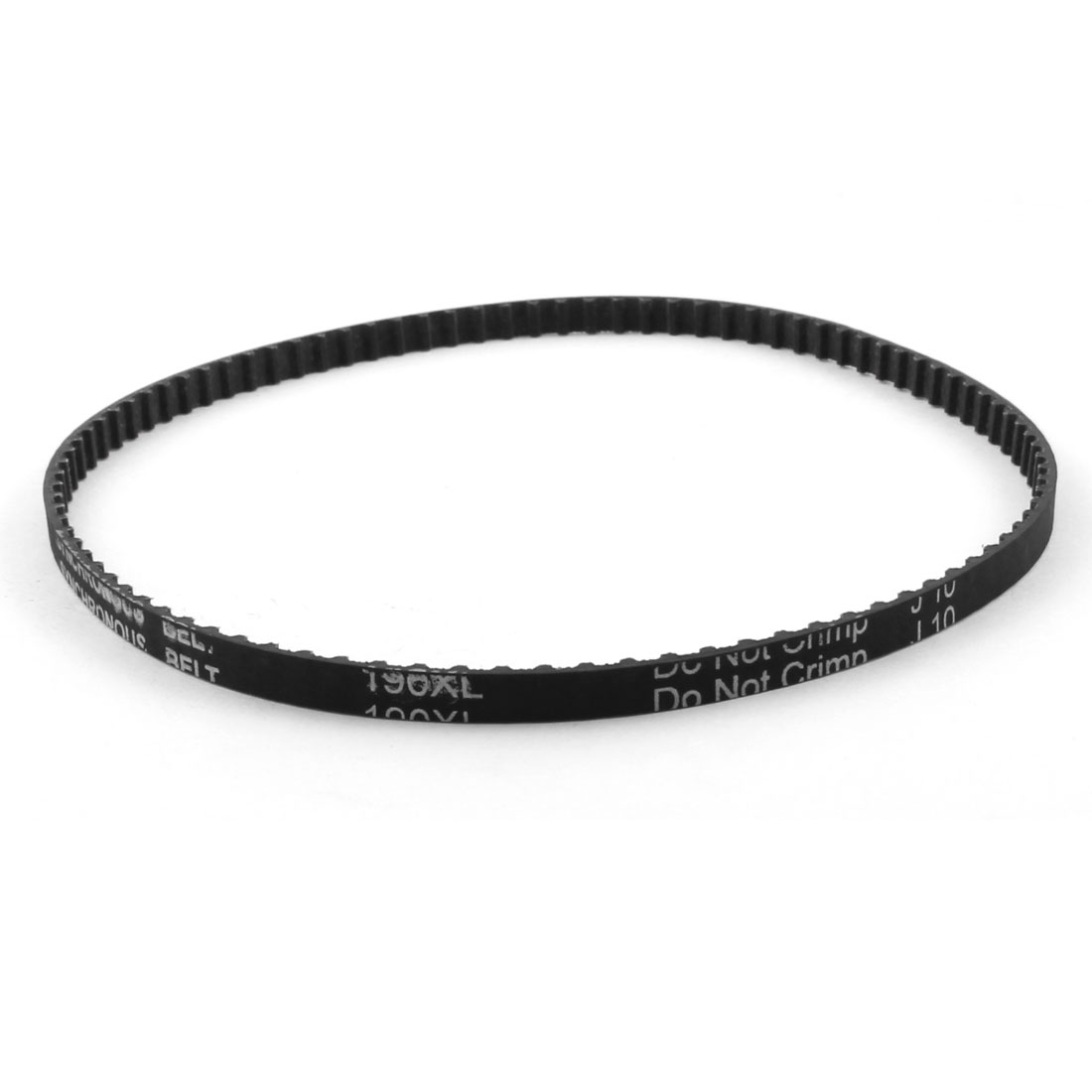 "XL-190 19"" Girth 5.08mm Pitch 95-Teeth 6.4mm Width Black Rubber Single Side Synchronous Timing Belt"