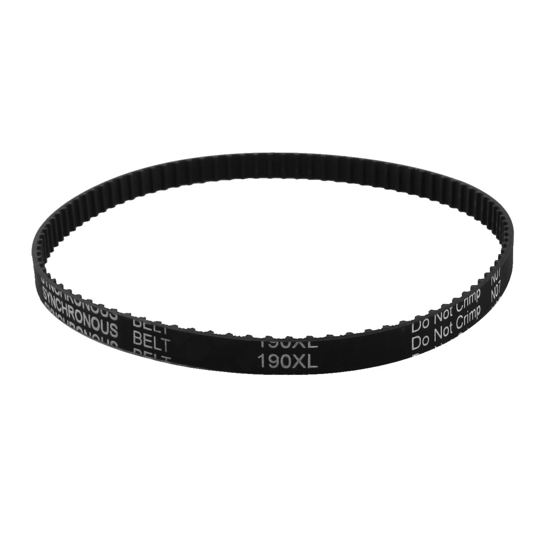 "XL-190 19"" Girth 5.08mm Pitch 95-Teeth 9.5mm Width Black Rubber Single Side Synchronous Timing Belt"