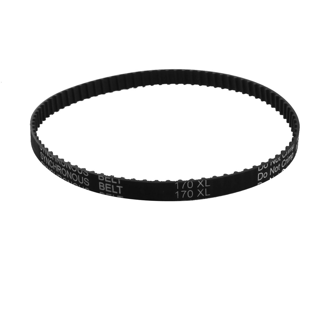 "XL-170 17"" Girth 5.08mm Pitch 85-Teeth 9.5mm Width Black Rubber Single Side Synchronous Timing Belt"
