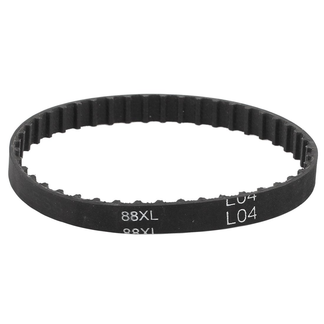 88XL 031 44 Teeth 7.9mm Width Rubber Drying Machine Timing Belt Black