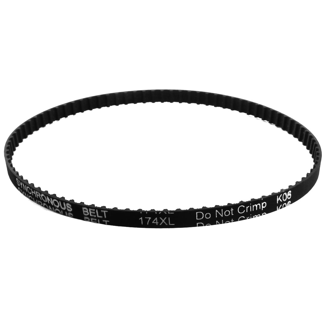 """XL-174 17.4"""" Girth 5.08mm Pitch 87-Teeth 7.9mm Width Black Rubber Single Side Synchronous Timing Belt"""