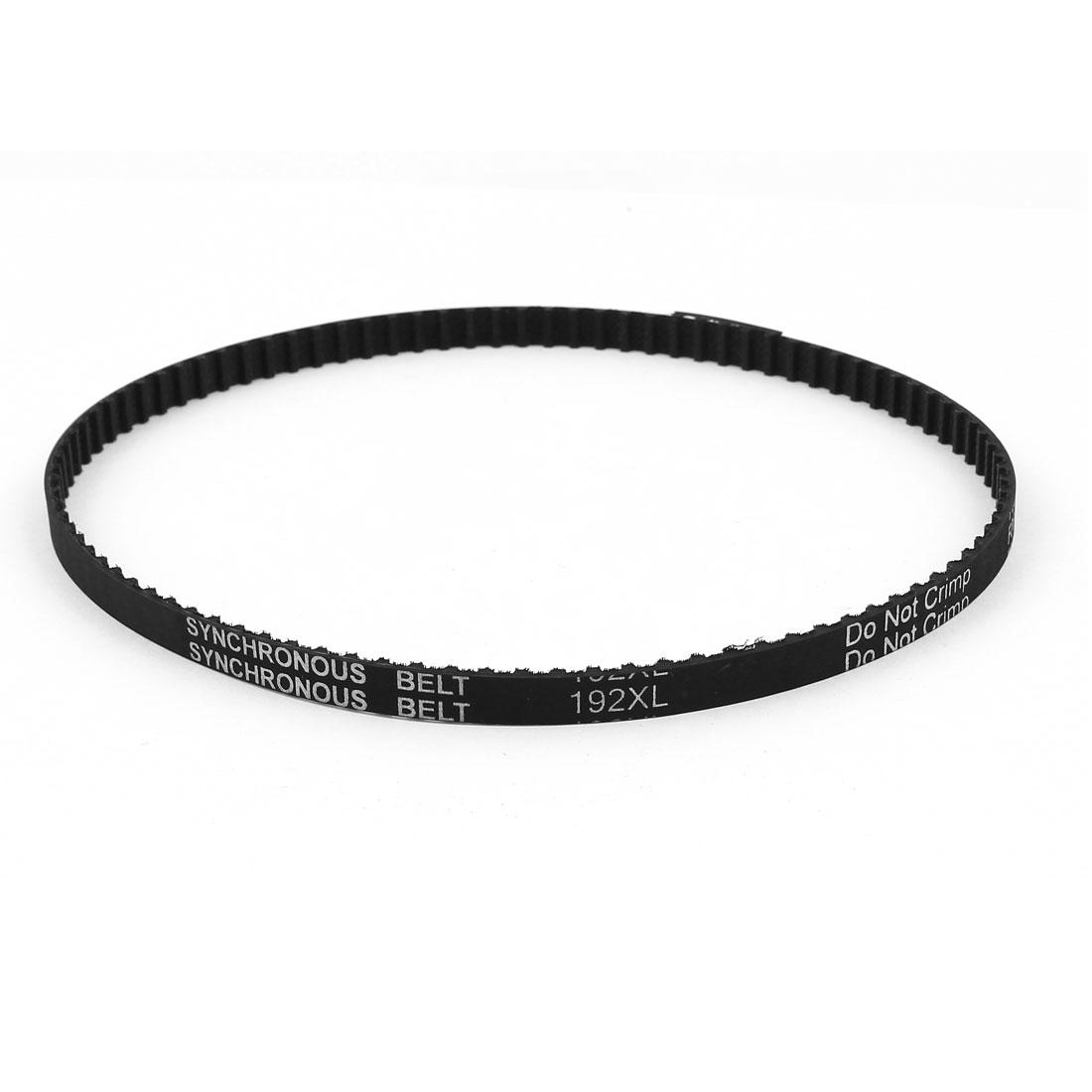 192XL 031 96 Teeth 7.9mm Width Rubber Drying Machine Timing Belt Black