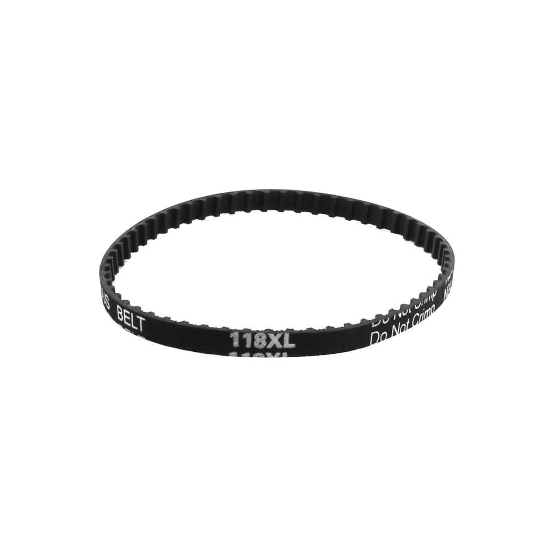 "XL-118 11.8"" Girth 5.08mm Pitch 59-Teeth 025 6.4mm Width Black Rubber Single Side Synchronous Timing Belt"